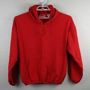 Marlboro Vintage Sweater Hoodie Red Large 90s